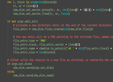 CBMdisk v3.1.0/Style screenshot